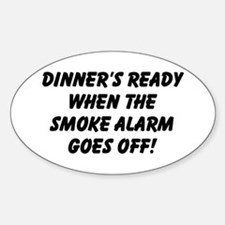 Dinner's Ready Oval Decal