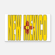 New Mexico Flag Rectangle Car Magnet