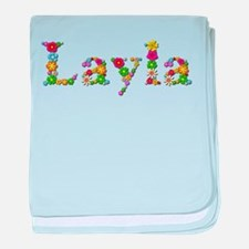 Layla Bright Flowers baby blanket