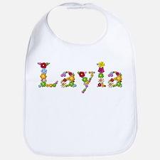 Layla Bright Flowers Bib