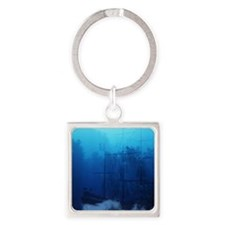 Ghost Ship Square Keychain