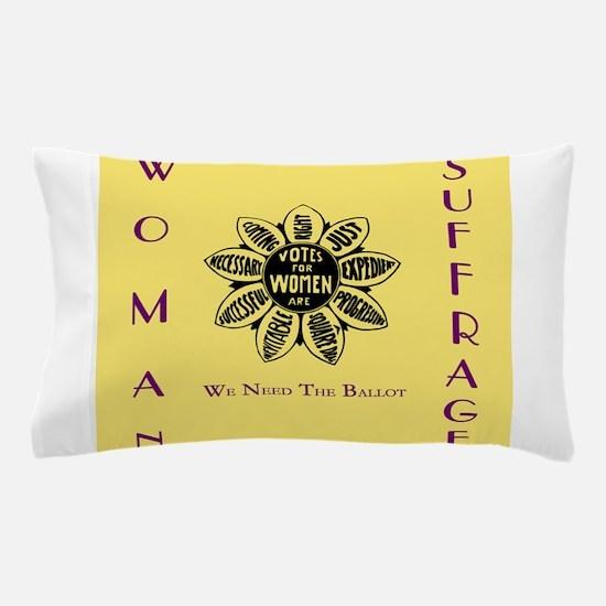 Votes For Women slogans square Pillow Case