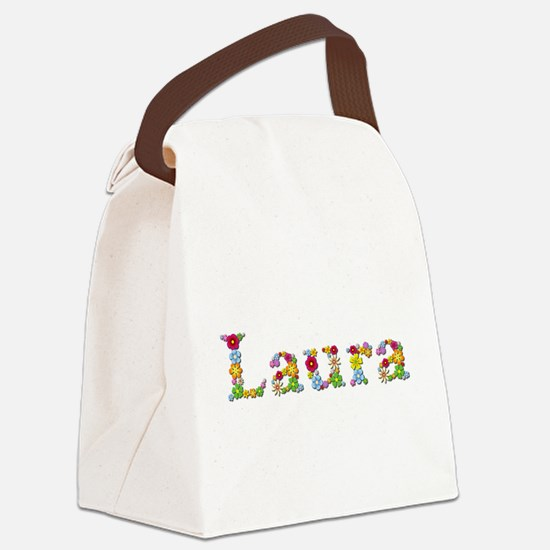 Laura Bright Flowers Canvas Lunch Bag