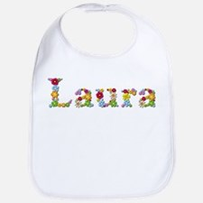 Laura Bright Flowers Bib