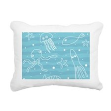 Cute Sea Life Rectangular Canvas Pillow