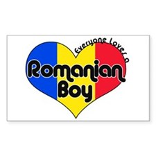 Everyone Loves a Romanian Boy Sticker (Rectangular