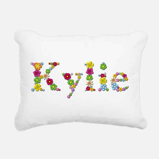 Kylie Bright Flowers Rectangular Canvas Pillow