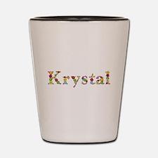 Krystal Bright Flowers Shot Glass