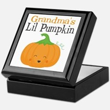 Grandmas Little Pumpkin Keepsake Box