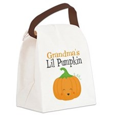 Grandmas Little Pumpkin Canvas Lunch Bag