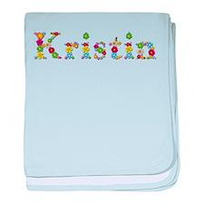 Kristin Bright Flowers baby blanket