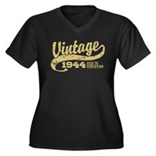 Vintage 1944 Women's Plus Size V-Neck Dark T-Shirt