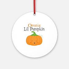 Omas Little Pumpkin Round Ornament