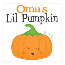 "Omas Little Pumpkin Square Car Magnet 3"" x 3"""