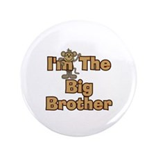 """Big Brother Monkey 3.5"""" Button"""