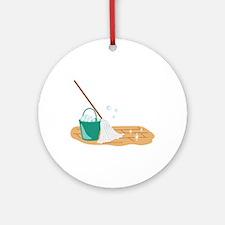 Mop Bucket Ornament (Round)