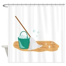 Mop Bucket Shower Curtain