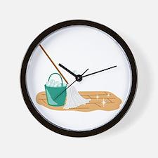 Mop Bucket Wall Clock