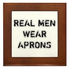 Real Men Wear Aprons Framed Tile