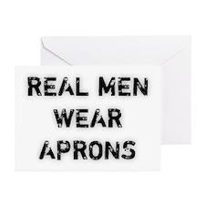 Real Men Wear Aprons Greeting Cards (Pk of 10)