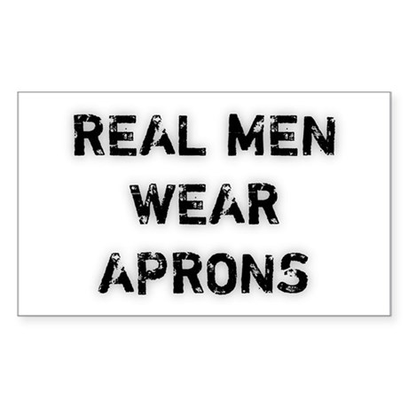 Real Men Wear Aprons Rectangle Sticker