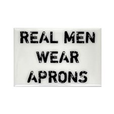 Real Men Wear Aprons Rectangle Magnet