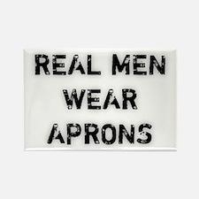 Real Men Wear Aprons Rectangle Magnet