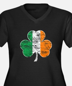 Vintage Irish Flag Shamrock Plus Size T-Shirt