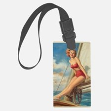 Pinup Sailboat Beach Towel Luggage Tag