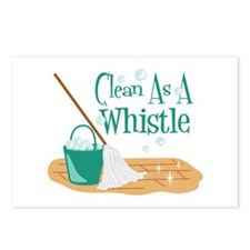 Clean As A Whistle Postcards (Package of 8)