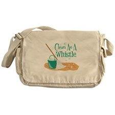 Clean As A Whistle Messenger Bag