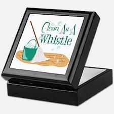Clean As A Whistle Keepsake Box