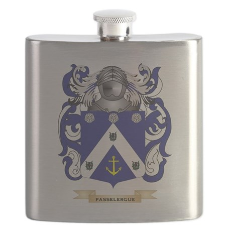 Passelergue Coat of Arms (Family Crest) Flask