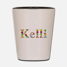 Kelli Bright Flowers Shot Glass