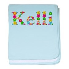Kelli Bright Flowers baby blanket