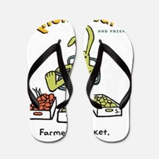farmer's market Flip Flops