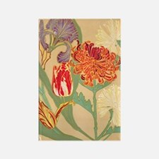 Art Nouveau Flowers Rectangle Magnet