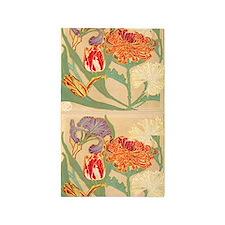 Art Nouveau Flowers 3'x5' Area Rug