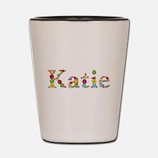 Katie Bright Flowers Shot Glass