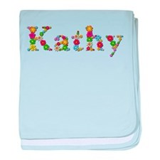 Kathy Bright Flowers baby blanket
