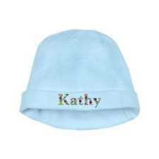 Kathy Bright Flowers baby hat
