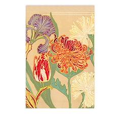 Art Nouveau Flowers Postcards (Package of 8)