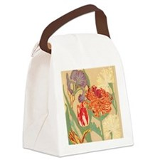 Art Nouveau Flowers Canvas Lunch Bag