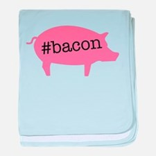 Hashtag Bacon baby blanket