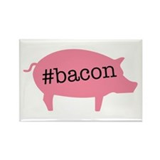 Hashtag Bacon Rectangle Magnet