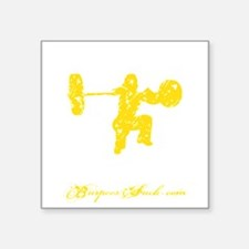 "CLEAN LIKE A GIRL - YELLOW Square Sticker 3"" x 3"""