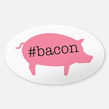 Hashtag Bacon Sticker (Oval)