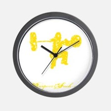 CLEAN LIKE A GIRL - YELLOW Wall Clock