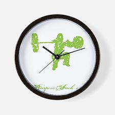 CLEAN LIKE A GIRL - LIME Wall Clock