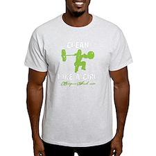 CLEAN LIKE A GIRL - LIME T-Shirt